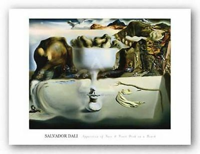 ART PRINT Apparition of Face and Fruit Salvador Dali