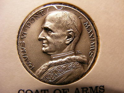 Pope Paul Vi Papal Medal Reverse Is Papal Coat Of Arms