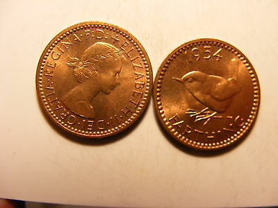 Great Britain Farthing, 1954, Red Uncirculated