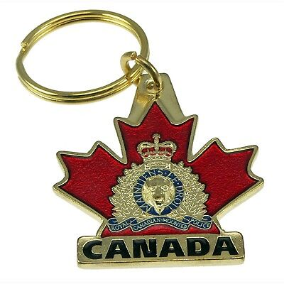 RCMP Canada Royal Canadian Mounted Police 3D Maple Leaf Key chain Ring