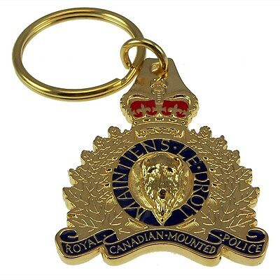 RCMP Canada Royal Canadian Mounted Police 3D Crest Key chain Ring