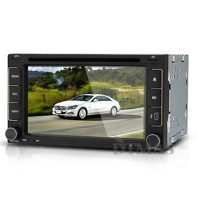 "DVD LCD 6.2"" TFT 2 DIN GPS Bluetooth Reproductor Radio Marcha Atrás para iPod"