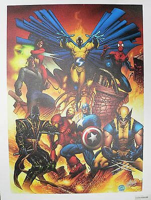 New Avengers #1 Marvel Giclee Canvas by Joe Quesada Signed by Stan Lee COA
