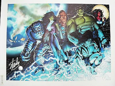 Incredible Hulks 615 Marvel Giclee Canvas by Barry Kitson Signed by Stan Lee COA