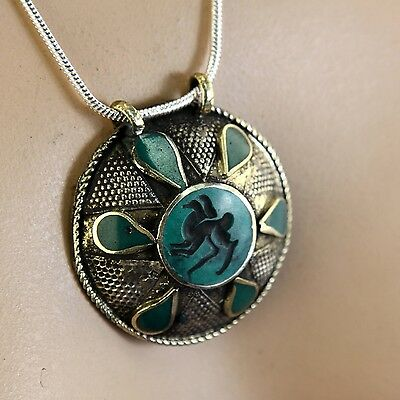 BellyDance ATS tribal PENDANT (Chain not included) Afghani Kuchi 731h8