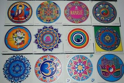 Sunseal Mandalas Sticker window Car bumper Stained Glass Mirror art door decal