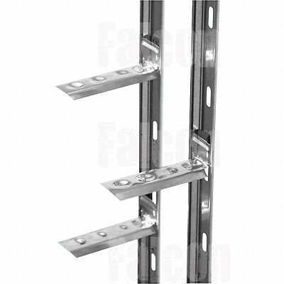 10 x WALL STARTER RAILS - 41 x 1200mm - STAINLESS FIXINGS - PLUGS & WALL TIES