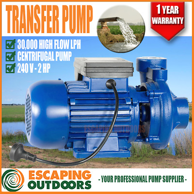 Water Pump 2 HP 30,000 l/h transfer Single phase 50mm in/out Farm Tank HF5AM