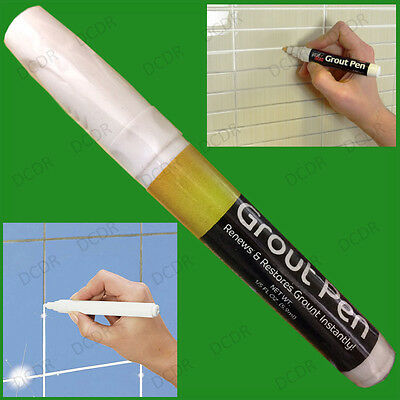 White Grout Tiling Pen, Tile Reviver Repair, Kitchen Bathroom Shower, Anti Mould