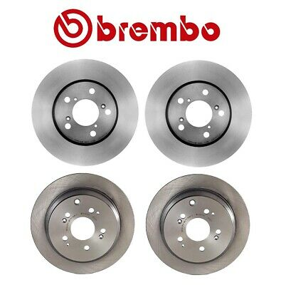 313 x 11mm Solid Pair Set of Two Rear Disc Brake Rotors Brembo for Honda Odyssey