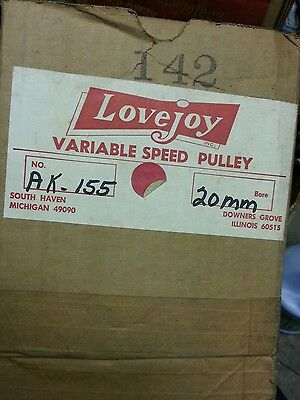 Lovejoy Variable Speed Pulley ak -155 / ak155 / 142 20mm bore new old stock