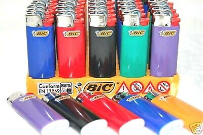 5 x BIC Mini Lighters Multi Coloured Brand New Lighter Authentic