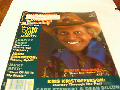 Porter Wagoner Covers Country Song Roundup Magazine December 1982 Charley Pride