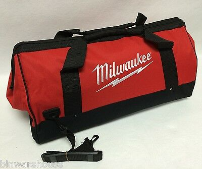Milwaukee 22 in Heavy Duty Zippered Canvas Carrying 4-Tool Bag + Shoulder Strap