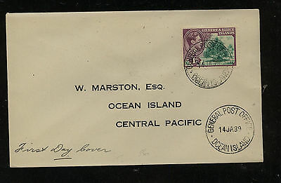 Gilbert  Ellice  Islands  local use cover  1939 first day      MM0522