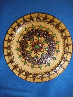 Lovely Hand Made Folk Art Wooden Wall Hanging Poland