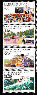 1991 Policing on Christmas Island - MUH Complete Set