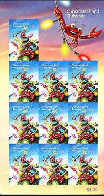 2008 Christmas Island Christmas - Sheet of 10 x 50c Self Adhesive Stamps