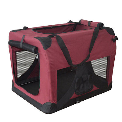 Faltbare Hundetransportbox Hundebox Transportbox Autotransportbox Faltbox NEU XL