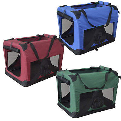 Hundetransportbox faltbare Hundebox Transportbox Autotransportbox Faltbox NEU L
