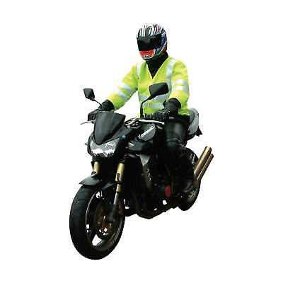 Bike-It High Visibility (Hi-Vis) Motorcycle Reflective Over Jacket - One Size