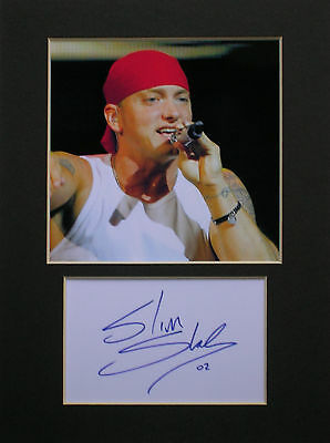 Eminem signed mounted autograph printed photo display #1