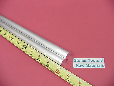 """2 pieces 5/8"""" ALUMINUM 6061 ROUND ROD 16"""" LONG T6511 .625 Solid Lathe Bar Stock"""