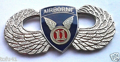 11th AIRBORNE WINGS  Military Veteran US ARMY Hat Pin P62842 EE SMALL