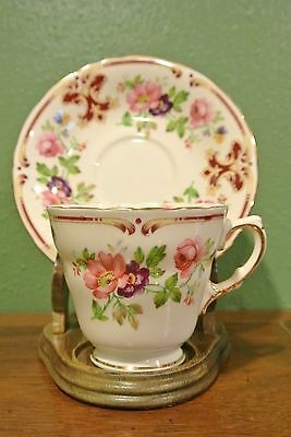 """Ludlow""  H M Floral Sutherland Bone China Cup and Saucer Made in England"