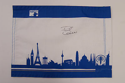 Paul LAWRIE SIGNED Autograph European Tour Golf Flag RYDER Cup AFTAL COA RARE