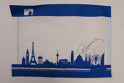 Paul McGINLEY SIGNED AUTOGRAPH AFTAL COA Ryder Cup WIN European Tour Golf Flag