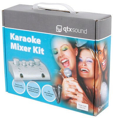 KARAOKE MIXER KIT CONVERTS CD/DVD TO KARAOKE 2 x MICROPHONES 103.112
