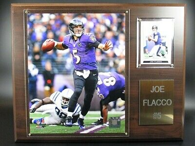 Joe Flacco Baltimore Ravens Holz Wandbild 38 cm,Plaque NFL Football