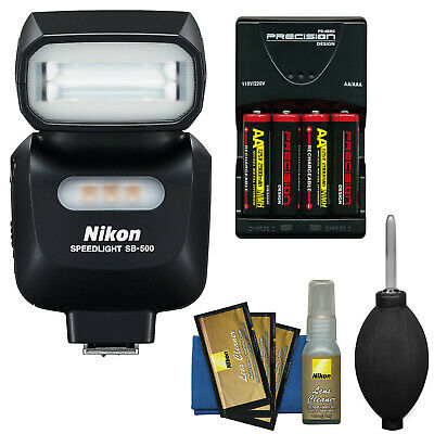 Nikon SB-500 AF Speedlight Flash & LED Video Light + Kit for Nikon DSLR Cameras