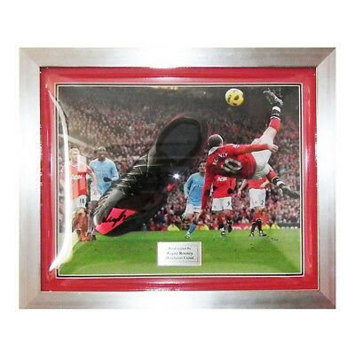 Wayne Rooney Man Utd Signed Black Nike Boot Framed - Manchester United & England