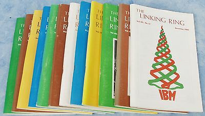 All 12 Issues of The LINKING RING Magazine - I.B.M. -  1980