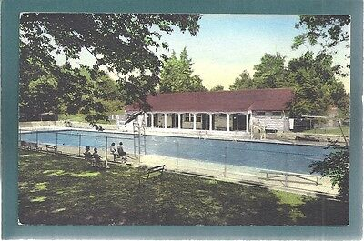 Spencer,IN Swimming Pool,McCormick Creek Canyon State Park,Albertype hand color