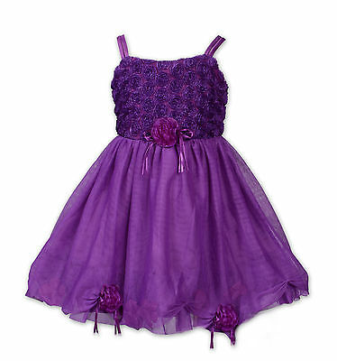 New Purple Flower Girl Party Pageant Party Dress 12-18 Months