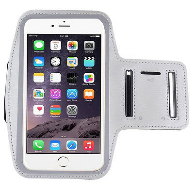 Silver Workout Running Gym Sport Armband Case for Apple iPhone X/ 8 Plus/8/7Plus