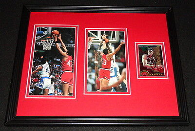 Pervis Ellison Signed Framed 11x14 Photo Display Louisville National Champs B