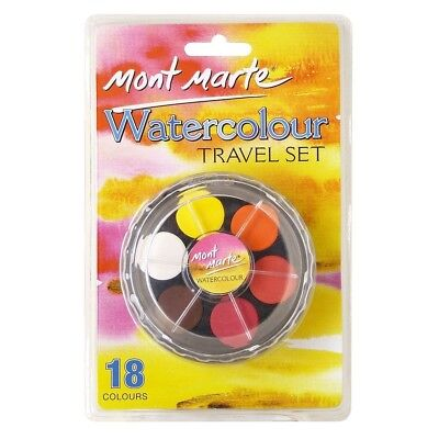 Mont Marte Silver Series Water Colour Set 24pce w/palett