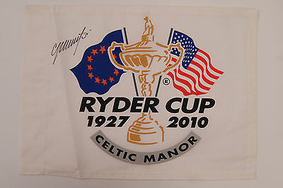 Colin MONTGOMERIE SIGNED Autograph RYDER CUP Captain AFTAL COA K Club GOLF Flag