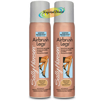 2x Sally Hansen Airbrush Legs Spray TAN GLOW 75ml