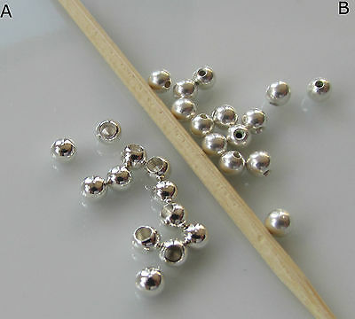 Jewellery Craft Design - Silver Plated 3mm Memory Wire End Cap Beads PACK