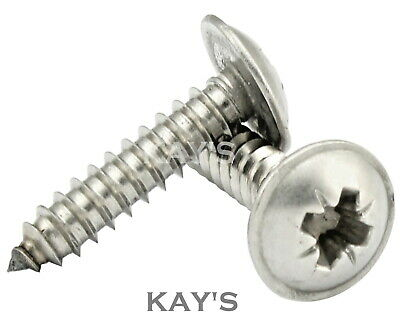 POZI FLANGED SELF TAPPING SCREWS A2 STAINLESS STEEL TAPPERS No.6,8,10,12, KAY'S
