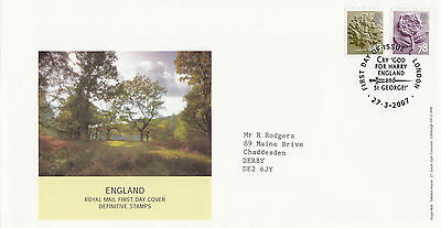 (34218) GB England FDC 78p 48p Pictorial - London 27 March 2007