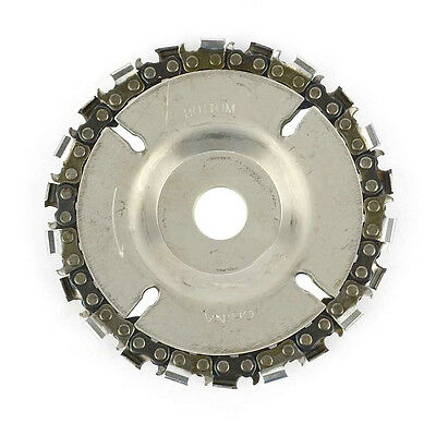 "EZ install 4"" 22 Tooth Fine Cut Grinder Disc and Chain - 5/8"" Arbor - SS458"