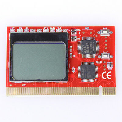 PCI Interface Diagnostic LCD Analyzer Tester Test debug Post Card fr Computer PC