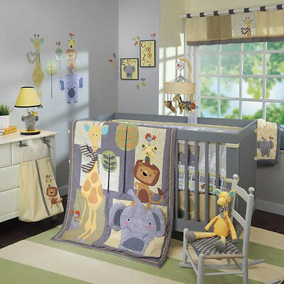 Lambs & Ivy Cornelius 5 Piece Baby Nursery Crib Bedding Set with Mobile NEW