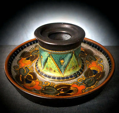 Stunning Large Pzh Gouda Inkwell In The ' Danier '? Pattern